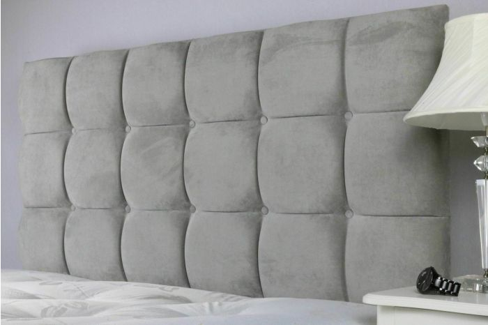 Cube Button Suede Headboard