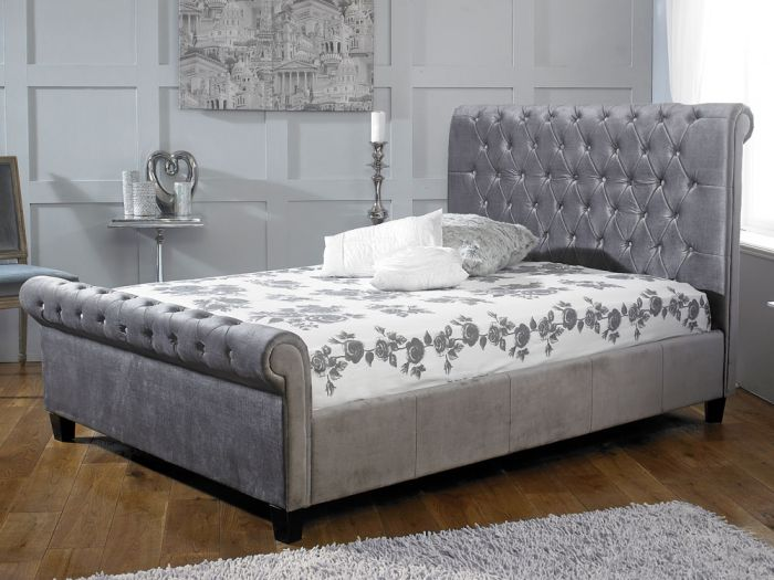 Orbit Silver Double Bed
