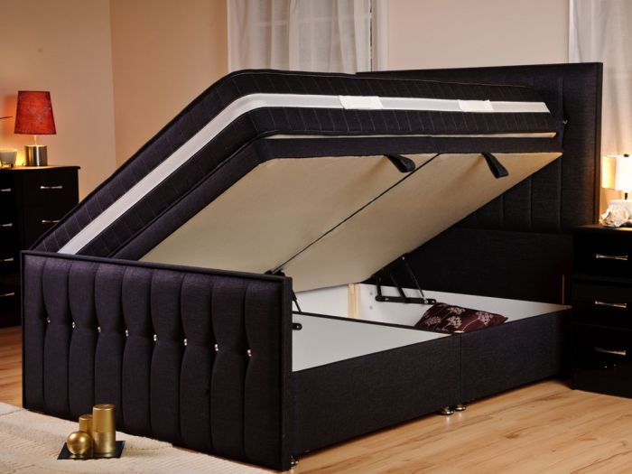 Style Sparkle Ottoman King Size Bed