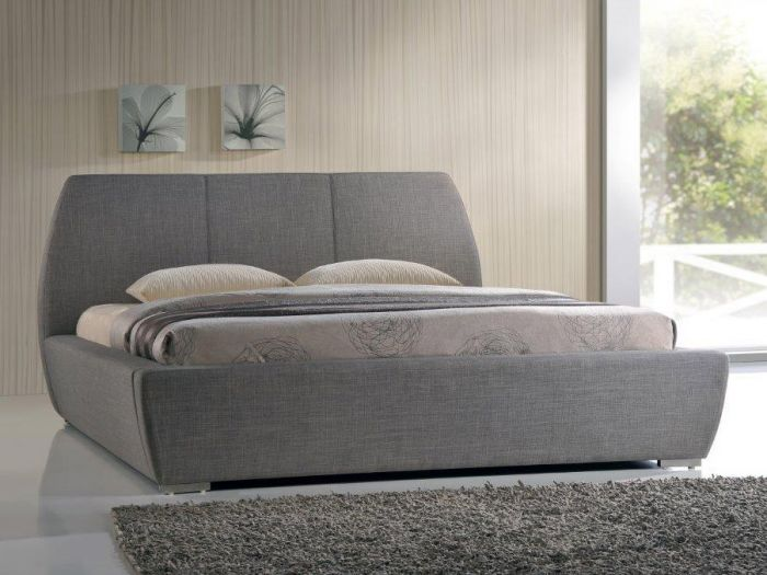 Naxos Grey Super King Size Bed