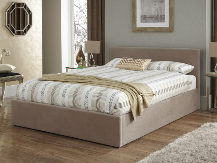 Evelyn Double Ottoman Bed
