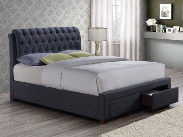 Valentino 2 Drawer Double Bed