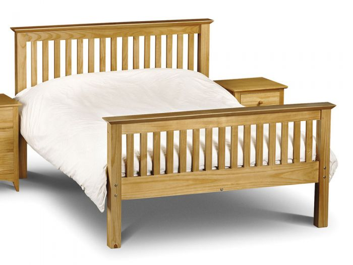 Barcelona Pine Double Bed - High Foot End