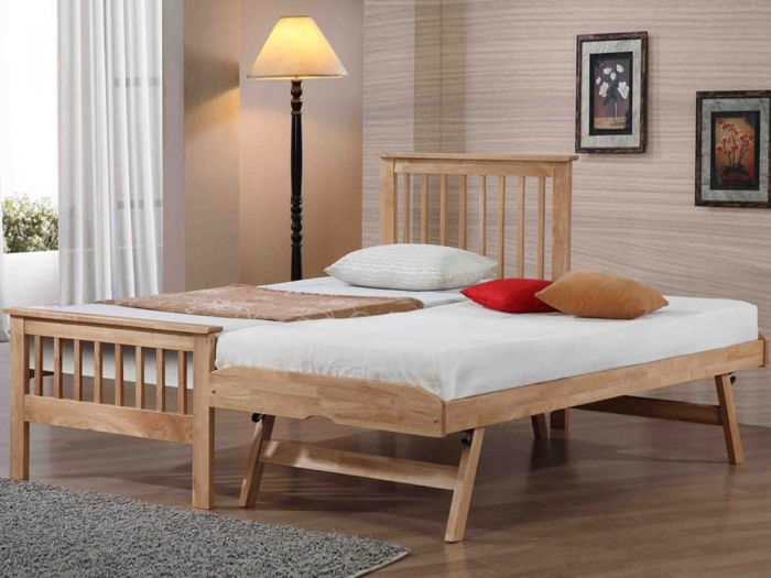 Pentre Oak Guest Bed
