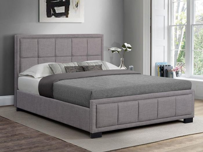 Hannover Fabric Bed in Grey