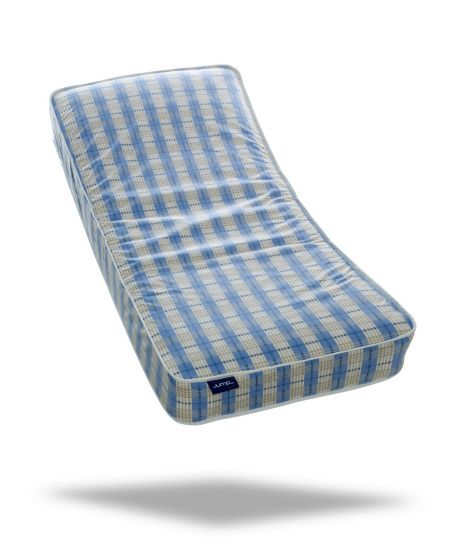 "Jumpi 6"" blue open coil spring single mattress"