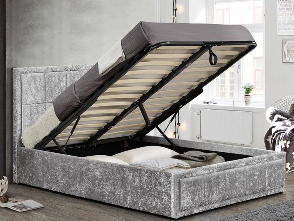 Hannover Fabric Ottoman Double Bed