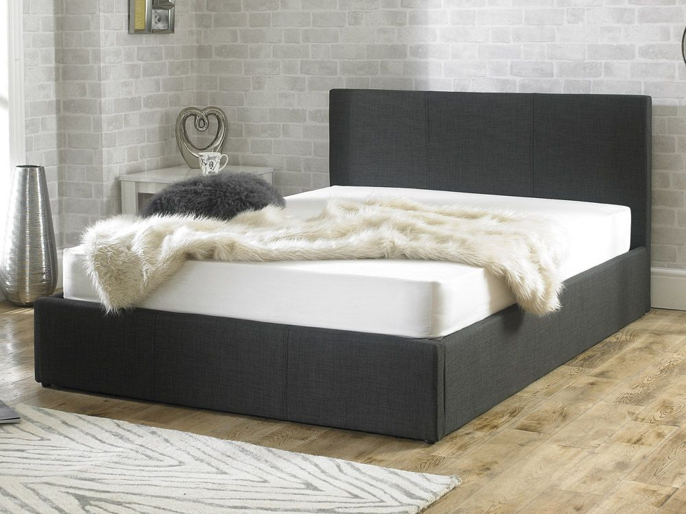 stirling fabric ottoman small double bed. Black Bedroom Furniture Sets. Home Design Ideas