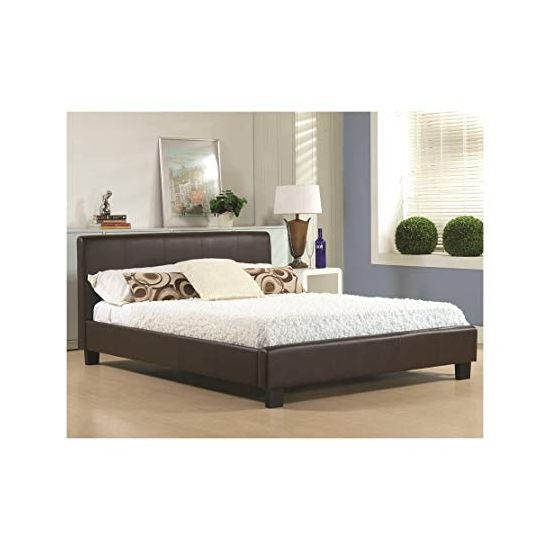 Hamburg Brown Fabric Small Double Bed