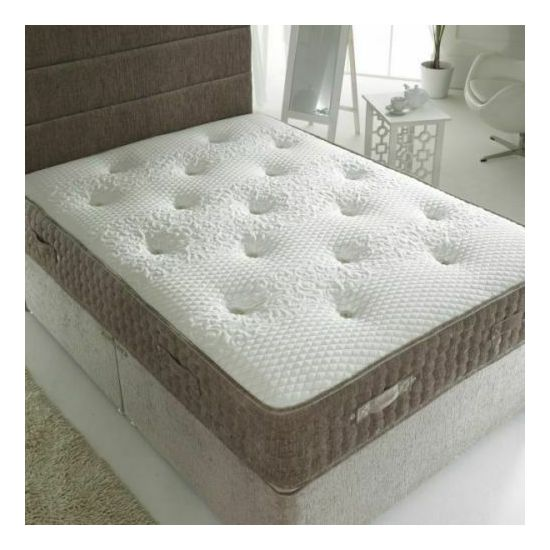 The Grey Chenille Pocket Spring King Size Mattress