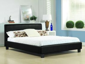 Hamburg Black Slate Fabric King Size Bed