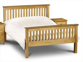 Barcelona White Double Bed - High Foot End