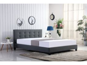 Bergen grey kingsize bed