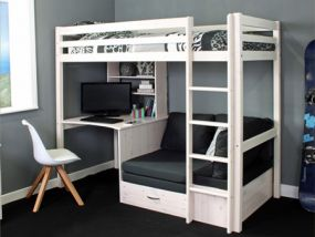 Thuka Hit 28 White Bunk Bed