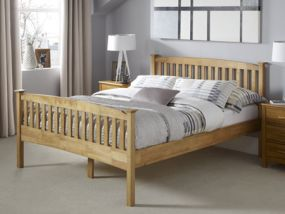Eleanor Honey Oak Super King Size Bed