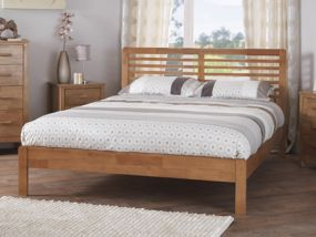 Esther Honey Oak Double Bed