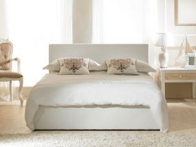 Madrid Ottoman White Double Bed