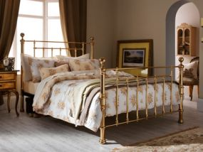 Benjamin Brass Small Double Bed