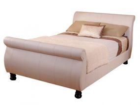 Mandarin White King Size Bed
