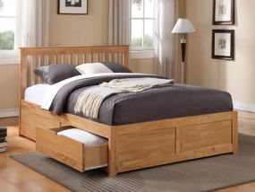 Pentre Oak 2 Drawer King Size Bed