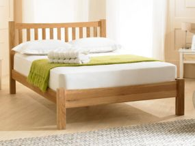 Milan Solid Oak King Size Bed