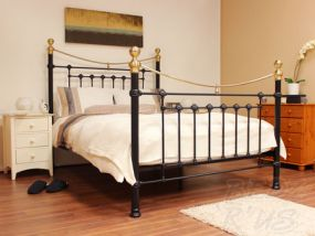 Victoria Black Single Bed