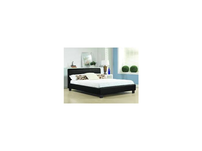 Hamburg Black Slate Fabric Small Double Bed