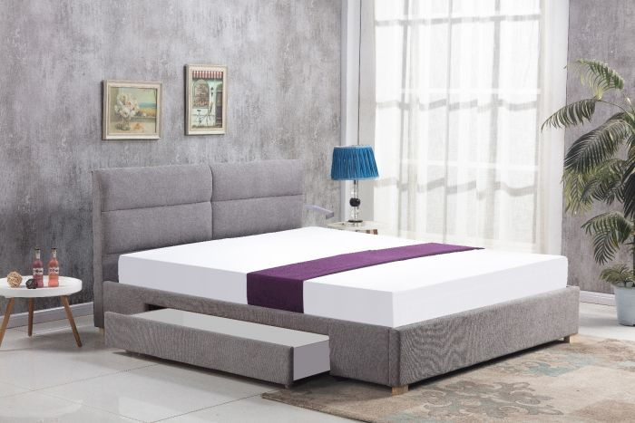Cambric grey drawer kingsize bed