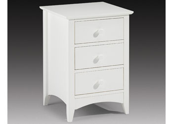 Cameo 3 Drawer Bedside Chest
